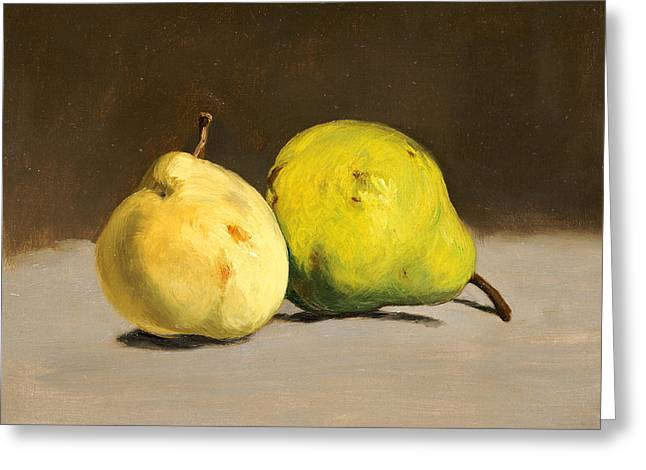 Two Pears Greeting Card