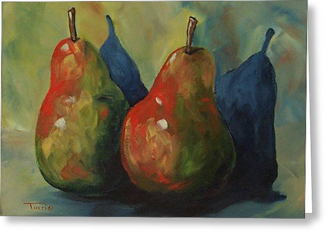 Two Pears  Greeting Card by Torrie Smiley