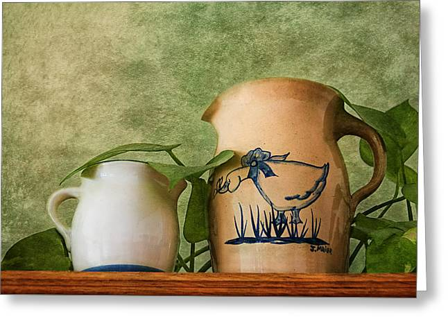 Two Pitchers Greeting Card by Mitch Spence
