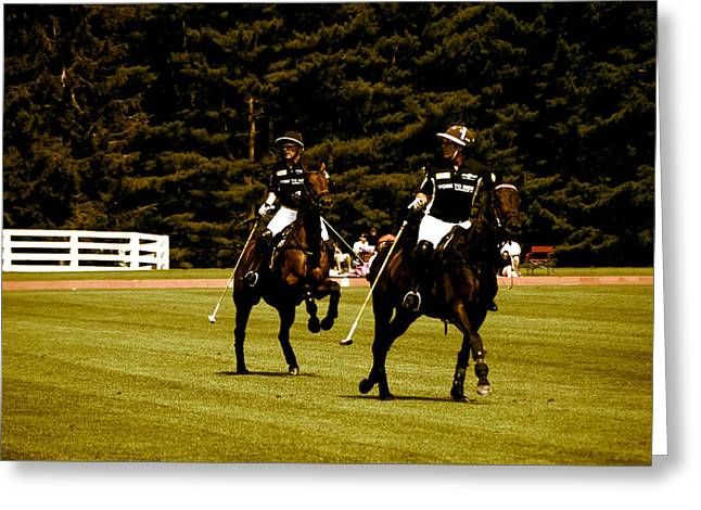 Two Polo Players Greeting Card