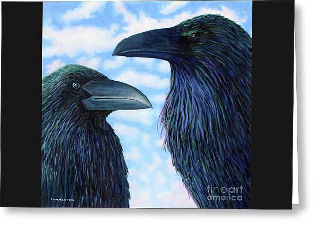 Two Ravens Greeting Card