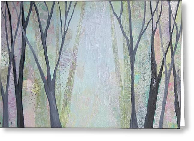 Two Roads I Greeting Card by Shadia
