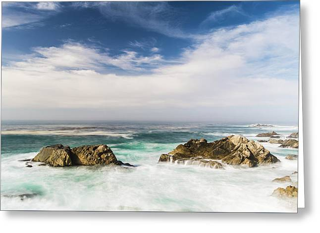 Greeting Card featuring the photograph Two Rocks In The Pacific Ocean by Jingjits Photography