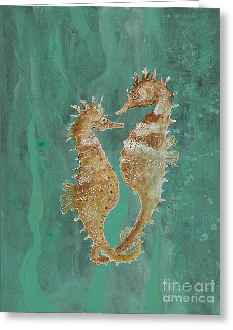 Two Seahorse Lovers Greeting Card