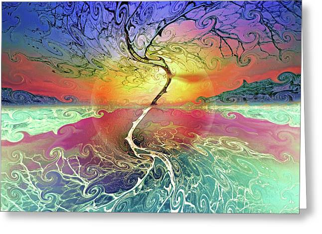 Two Sides To This Tree Greeting Card by Tara Turner