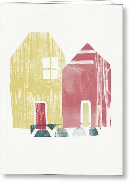 Two Sisters- Art By Linda Woods Greeting Card