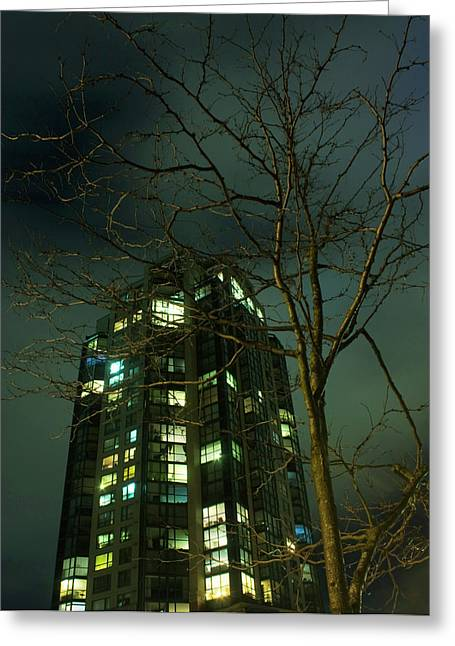 Two Skyscrapers Greeting Card by Barbara  White