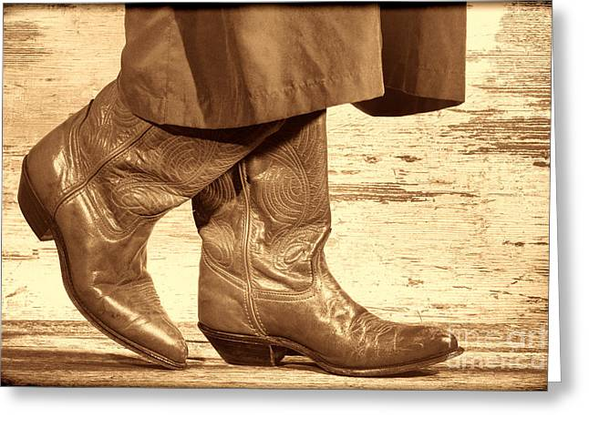 Two Step Greeting Card by American West Legend By Olivier Le Queinec