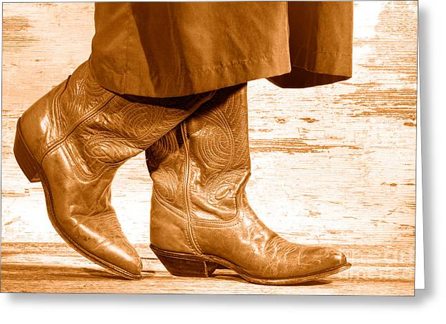 Two Step - Sepia Greeting Card