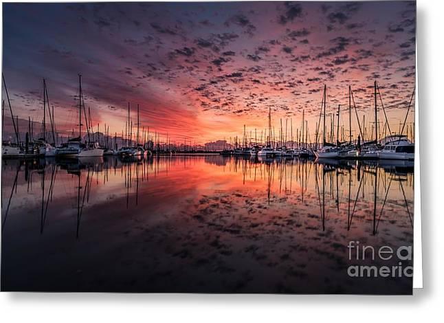 Two Sunset Skies Greeting Card by Thomas Jones