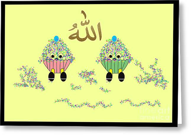 Two Teacakes Greeting Card by Tahira Parveen