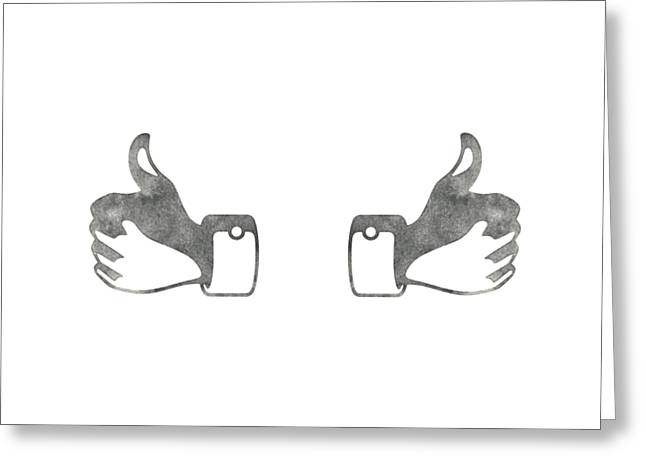 Two Thumbs Up Greeting Card by Edward Fielding