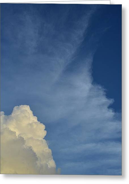 Two Tone Clouds 9384 Greeting Card