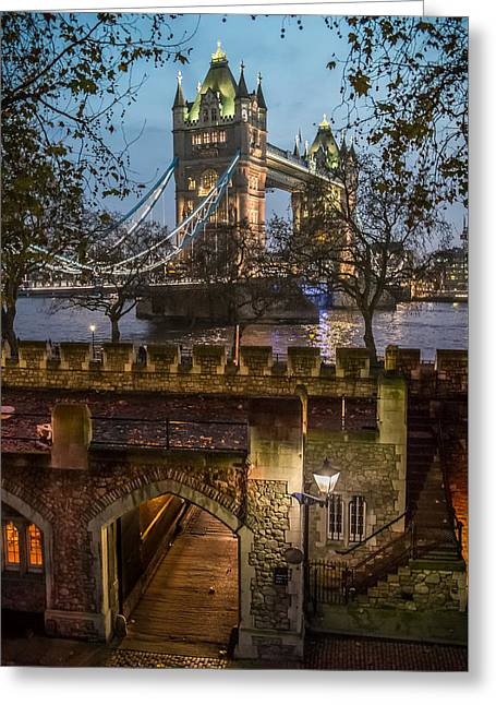 Two Towers Greeting Card by Glenn DiPaola