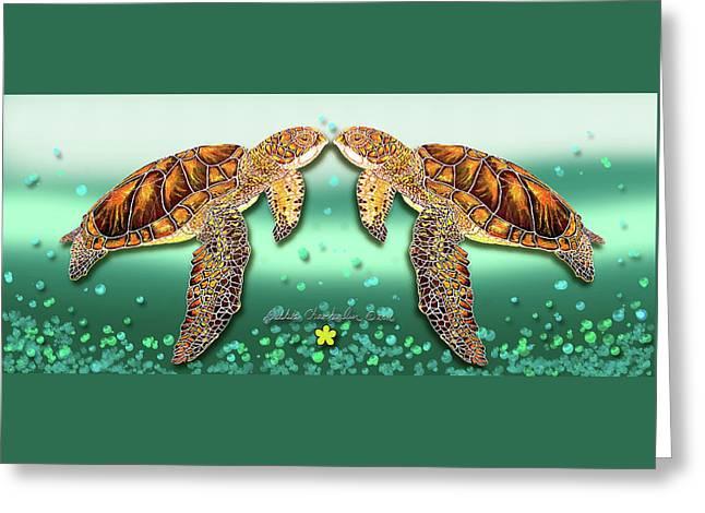 Two Turtles Greeting Card