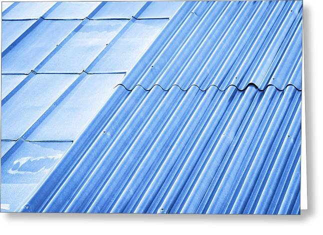 Two Types Of Metal Roofs Greeting Card by Jozef Jankola