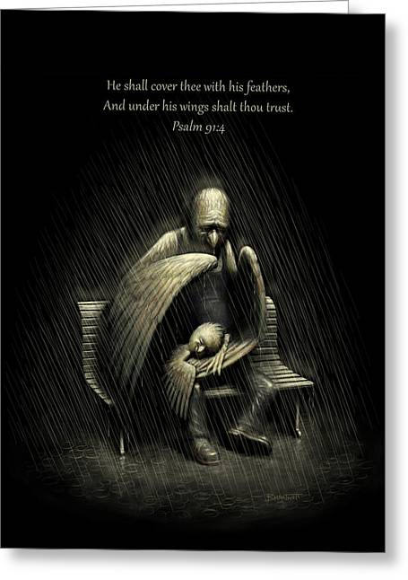 Two Wings And A Prayer - With Psalm 91 Greeting Card