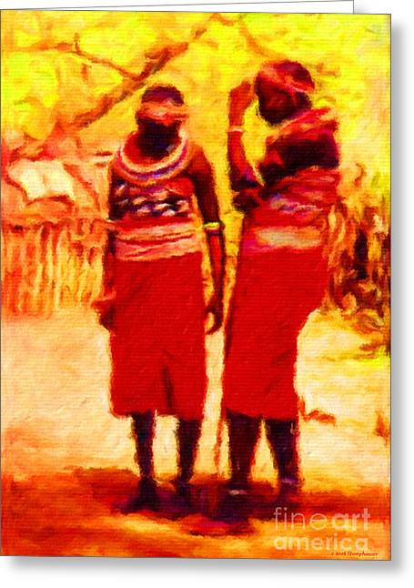 Two African Women Greeting Card
