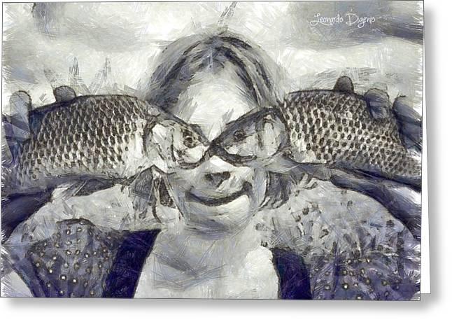 Twofish - Da Greeting Card by Leonardo Digenio