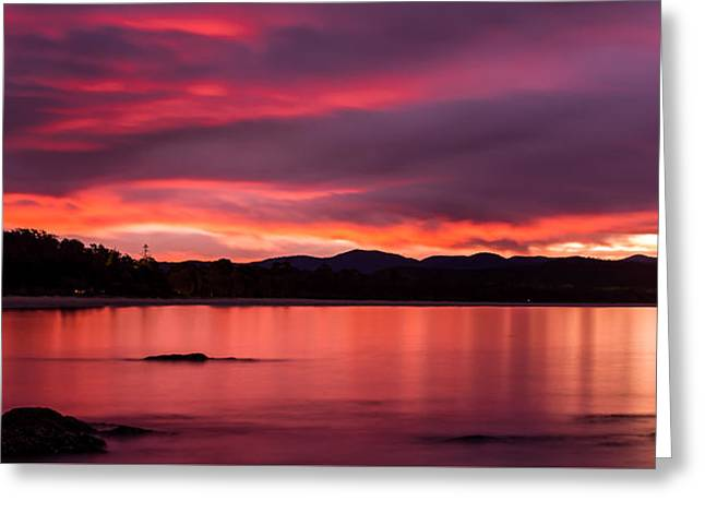 Twofold Bay Sunset Greeting Card