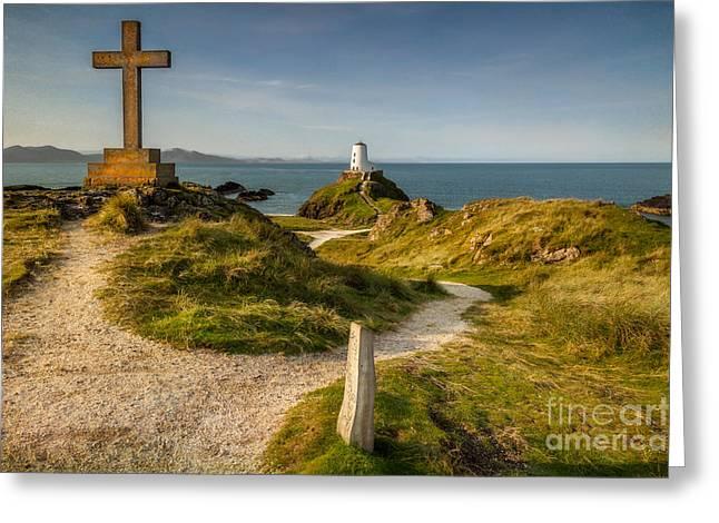 Twr Mawr Lighthouse Greeting Card