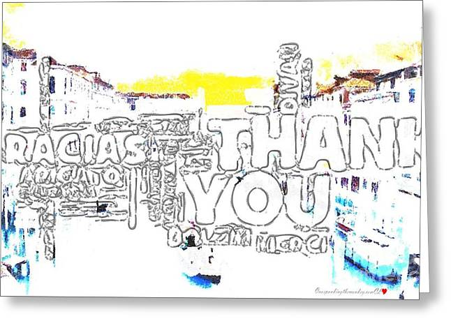 Ty Ty In Italian Drawing In The Mix Greeting Card