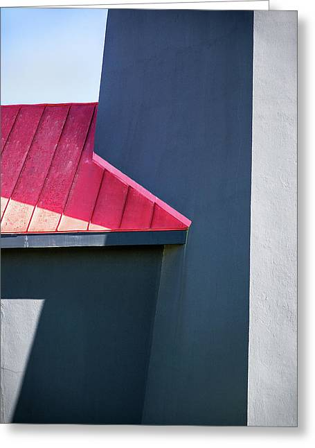 Tybee Building Abstract Greeting Card