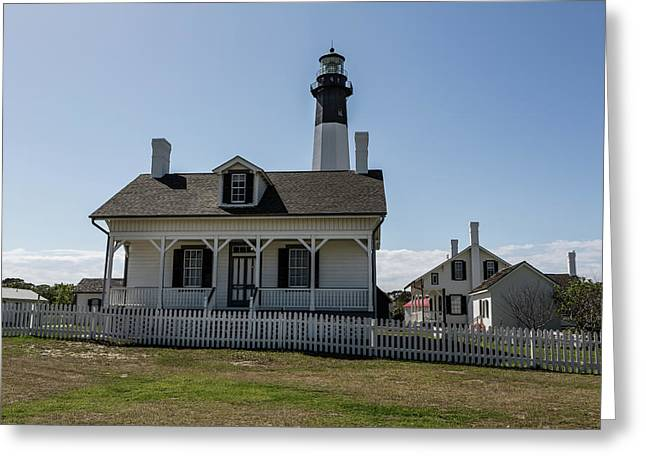 Greeting Card featuring the photograph Tybee Island Lighthouse by Kim Hojnacki