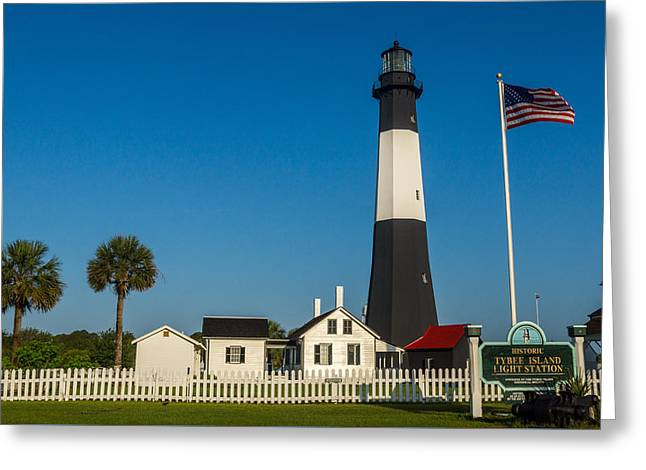 Tybee Island Lighthouse Greeting Card by Michael Sussman