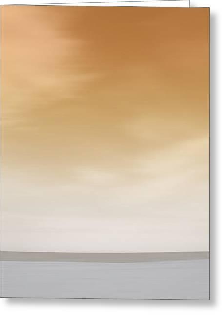 Tybee Island Orange Sunset Greeting Card by Andrea LaRayne Etzel