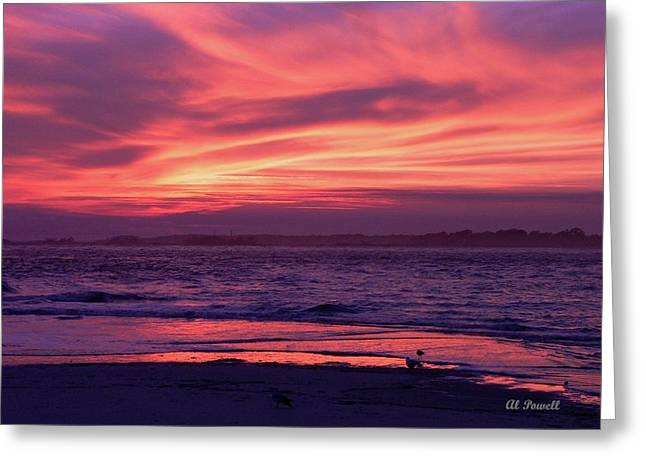 Al Powell Photography Usa Greeting Cards - Tybee Island Sunset Greeting Card by Al Powell Photography USA