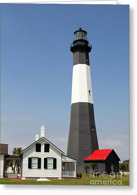 Tybee Lighthouse Georgia Greeting Card