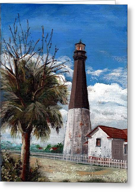 Tybee Lighthouse Greeting Card by Robynne Hardison