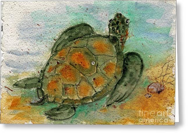 Tybee Sea Turtle Greeting Card