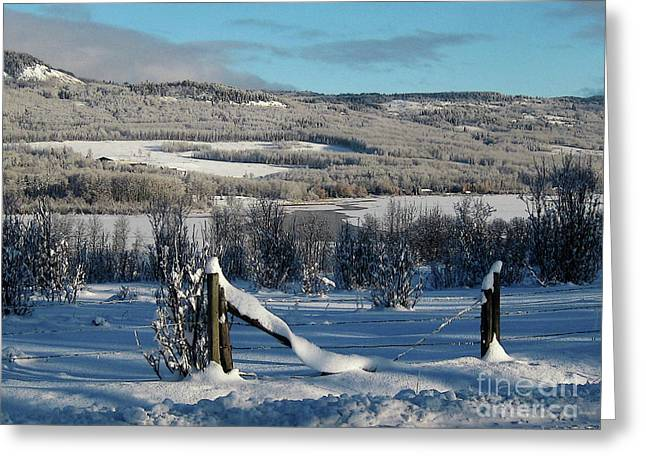 Tyee Lake From Hi-road, Winter Greeting Card