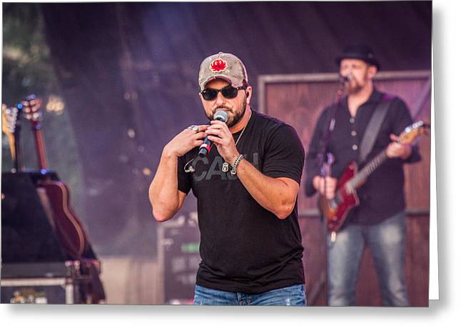 Tyler Farr On Stage 2 Greeting Card