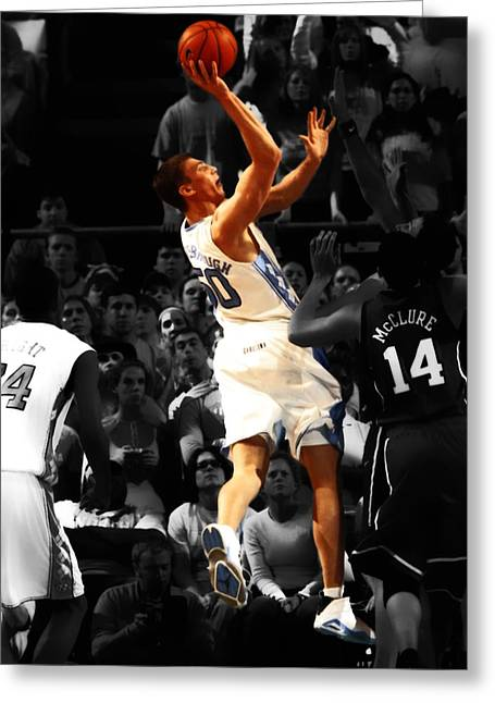 Tyler Hansbrough  Greeting Card by Brian Reaves