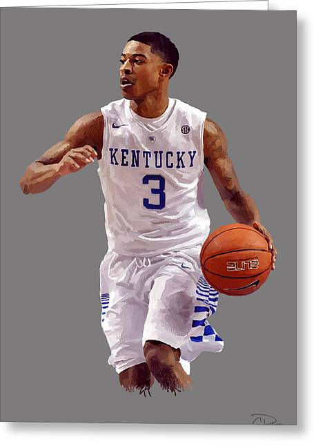 Tyler Ulis Greeting Card by Charley Pallos
