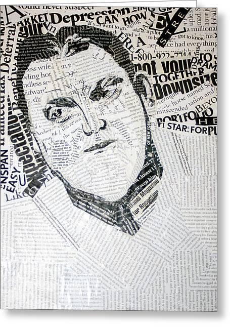Type Man Greeting Card by Lisa Stanley