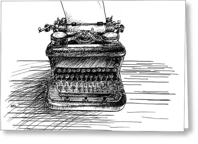 Typewriter Greeting Card by Diana Ludwig