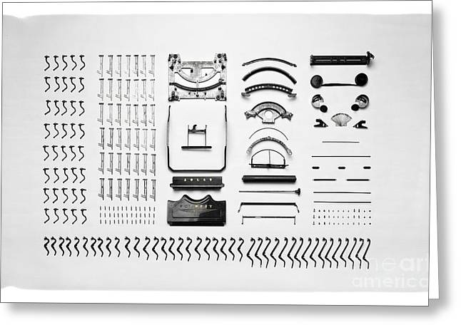 Typewriter Disassemblemed Greeting Card by Edward Fielding