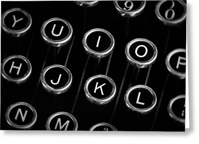 Typewriter Keyboard I Greeting Card