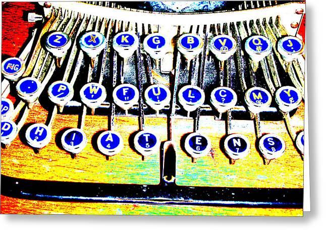 Typewriter Greeting Card by Peter  McIntosh