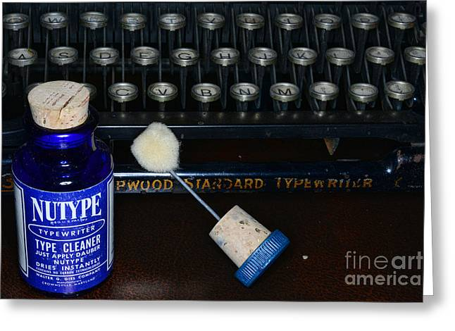 Typewriter Time To Clean The Keys Greeting Card by Paul Ward