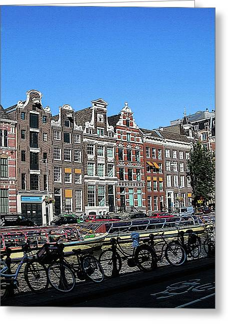 Typical Houses In Amsterdam Greeting Card