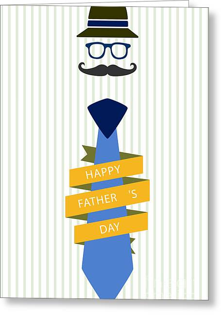 Typography Poster - Happy Father's Day Greeting Card by Celestial Images
