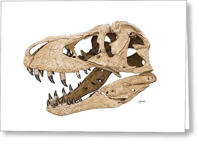 Tyrannosaurus Skull Greeting Card