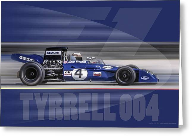 Tyrrell 004 Greeting Card by Ed Dooley