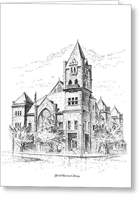 Tyrrell Historical Library Greeting Card
