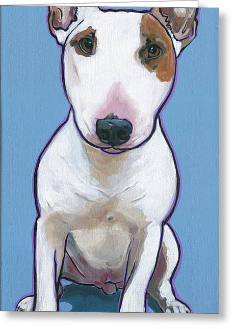 Greeting Card featuring the painting Tyson by Nadi Spencer